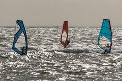 I SAW THREE SAILS..... (mark_rutley) Tags: avonbeach windsurfers sea extremesports watersports solent sails seaside dorset