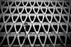 Inhumanity (Douguerreotype) Tags: monochrome abstract buildings diagonal street car concrete city bw park uk geometry british mono england blackandwhite architecture britain gb urban geometric parking london light