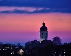 Blue Hour (W_von_S) Tags: bluehour blauestunde st sebastian ebersberg oberbayern himmel sky clouds wolken farbenspiel colorful wvons werner sony outdoor sunset pastel steeple kirchturm