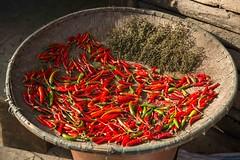 China - Basha Miao village, red chillies (lukasz.semeniuk) Tags: china bashamiaovillage redchillies basha