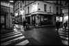 Three-way crossing (GioMagPhotographer) Tags: france night paris ricohgr crossing flickrexplore