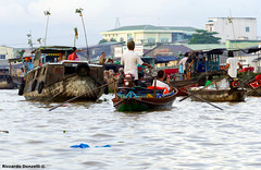 Mekong Floating markets (riccardo.donzelli) Tags: vietnam travel backpacking backpacker asia river mekong floating market can tho