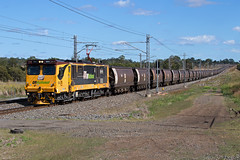 Long Coal (PJ Reading) Tags: aurizon qr qrnational queensland rail railway train cargo goods freight locomotive qld australia transport transportation electric electricity coal mineral bulk export gladstone blackwater rockhampton northcoast central ncl 3800