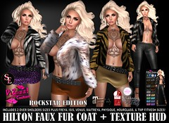 HILTON FUR ~ ROCKSTAR EDITION PIC (brajeet.resident) Tags: secondlife pizazz pzc fitmesh fde fitmeshdesignerexpose belleza maitreya slink tmp womens fashion apparel