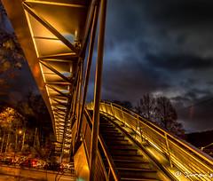 Pedestrian Bridge on Tervurenlaan (Imran's) Tags: brussel brussels bruxelles tervuren tervurenlaan woluwesaintpierre woluwe park pedestrian