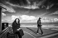 Soraya (johann walter bantz) Tags: 1424mm nikond4s clouds ciel monochome blackwhite mer sea coast beach normandy soraya