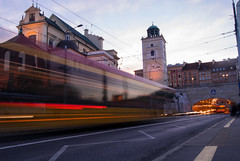 Warsaw in Motion (dressk) Tags: warsaw poland polska long exposure longexposure tramway travel city europe nikon d40x nikond40x