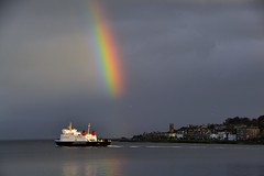 (Zak355) Tags: rothesay isleofbute bute scotland scottish rainbow weather mvbute calmac ferry