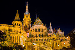 Fishermans Bastion and St Matthias Church, Budapest, Hungary, Europe