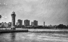 Roosevelt Island (mokastet) Tags: newyorkcity lighthouse newyork island blackwhite manhattan jr roosevelt queens eastriver rooseveltisland 1872 nationalregisterofhistoricplaces jamesrenwick newyorkcitylandmark jamesrenwickjr welfareisland blackwellislandlighthouse rooseveltislandlighthouse stonelighthouse blackwellislandlight welfareislandlighthouse minnehanonck blackwellsisland