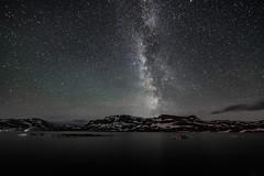 Haukeli night (Torehegg) Tags: sky mountain water norway night stars landscape nightsky milky milkyway haukeli startrail haukelifjell haukeliseter