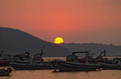 September sunrise (Lorenoir) Tags: red summer sun sunshine yellow sunrise pentax september ischia ischiaponte isoladischia pentaxiani pentaxk50 sunriseatmosphere
