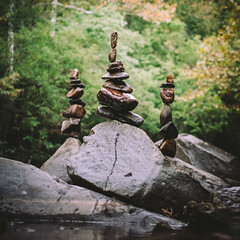 .balance (.monodrift) Tags: rock river rocks stack stacking balancing