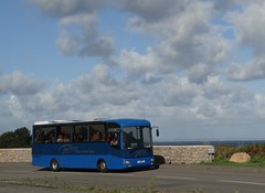 France in the distance (Coco the Jerzee Busman) Tags: uk blue bus islands coach camo renault cannon jersey swift dennis tours dart channel leyland lcb plaxton tantivy