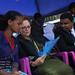 Ms. Gillian Mellsop, UNICEF Representative  to Ethiopia discuss with Yenewub Eniyew to their left Deputy Mayor of Gonder town