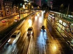 city under typhoon (Kai-Ming :-))) Tags: car rain night hongkong sony headlights rainstorm typhoon wanchai kaiming e6533 typhoonmujigae