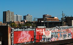 View from the Sheridan Rd. Red Line Platform (Cragin Spring) Tags: city urban usa chicago building skyline buildings graffiti midwest unitedstates unitedstatesofamerica platform chitown northside elevated redline wrigleyville chicagoillinois chicagoil windycity