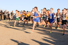 Reed (Palo Alto) and Ben (Los Altos) go into the early lead (Malcolm Slaney) Tags: championship crosscountry xc crystalsprings 2015 scval