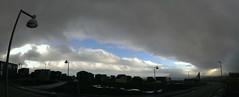 Blue sky over 'Trnby' (Jan Egil Kristiansen) Tags: panorama skyline skyscape streetlight fisheye faroeislands autopano bnus hoyvk nlsoy karlamagnusarbreyt imag1220 imag1210 karlamagnusargreyt