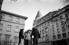 Center (Shtani v Getri) Tags: street old city 2 white black film graffiti mju zoom sofia lifestyle atmosphere olympus bulgaria ii 200 80 bombing lent handstyle fomapan