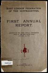 First annual report, East London Federation of Suffragettes, 1915.