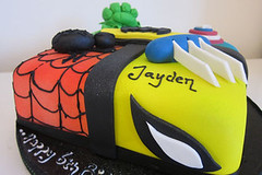 Marvel Hero Cake (Couture Cakes & Dreams) Tags: birthday cake america spiderman celebration captain hero hulk marvel wolverine