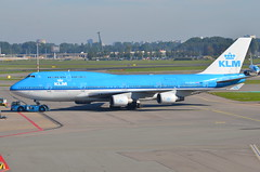 DSC_5426 - Boeing 747-406, PH-BFD, 'Dubai', KLM, Amsterdam Schiphol, 2nd October 2015. (Martin Andrew Laycock) Tags: klm eham boeing747400 amsterdamschiphol phbfd panoramaterrace boeing747406