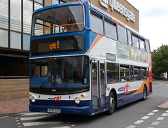 Stagecoach Dennis Trident 18415 AE06GZM - Peterborough (dwb transport photos) Tags: bus alexander dennis peterborough stagecoach trident decker 18415 alx400 ae06gzm