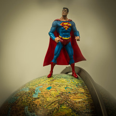 0319 Top of the World (misterperturbed) Tags: globe earth superman dccomics justiceleagueofamerica jla dcdirect