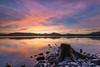 Loch's Edge (Keith - Glasgow) Tags: lochlomond millarochy scotland sky clouds landscapes lochs shore sunset unitedkingdom