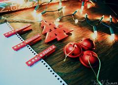 Craft (unterihremkissen) Tags: christmas wood winter red holidays december bokeh christmaslights celebration ornaments deco