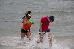 Two Great Superheros at the Polar Bear Plunge 2016 (slightheadache) Tags: nyc newyorkcity winter party newyork cold beach brooklyn coneyisland newyear celebration polarbear boardwalk newyears coney newyearsday bk polarbearplunge 2016