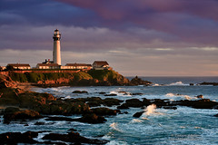 Pigeon Point Lighthouse (andispin1962) Tags: ocean california travel sunset lighthouse seascape beach coast highwayone waves pacific coastline pigeonpoint tallest darvin atkeson darv liquidmoonlightcom pigeonpointlightshouse