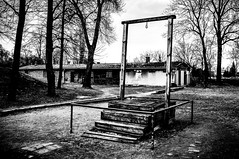 The Gallow of Rudolf Hss (A.Nilssen Photography) Tags: world 2 bw white black 1 konzentrationslager holocaust war wwii ww2 rudolf auschwitz kl kz edit lr concentrationcamp lightroom execution oswiecim gallow hss hoess stammlager