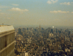 1988 NYC USA (travelkaefer) Tags: world nyc newyorkcity sky urban usa newyork building film architecture analog state manhattan center 80s empire wtc trade skycraper