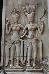 Devatas in Inner Gallery of Angkor Wat  No.2 (meg williams2009) Tags: angkorwat cambodia siemreap devatas basreliefestonesculptures khmerculture khmerart stonesculptures unescoworldheritage