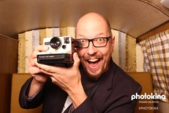 Photokina Photobooth (FotodioxPro) Tags: photokina2016 bohusblahut fotodiox polaroidcamera photobooth silly goofy portrait retrocamera landcamera cologne germany funatphotokina