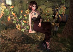Freedom in the Forest (nannja.panana) Tags: re 3rdeye anybody astralia barberyumyum catwa collabor88 darkpassions ikon insol maitreya meva phedora pumpkintown tylarstreasures yasum fantasy nannjapanana secondlife autumn coffeetime