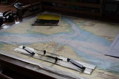 The way ahead (KevPBur) Tags: canon650d canonkissx6i canonrebelt4i jst jubileesailingtrust stslordnelson sigma30mmf14exdchsm navigation plottingtable seachart tallship canon650dcanonkissx6icanonrebelt4i