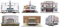 Cinemas (kingsway john) Tags: kingsway models card building kits oo gauge 176 scale model kit gaumont odeon embassy dominion capitol abc studio7 kingston kinema