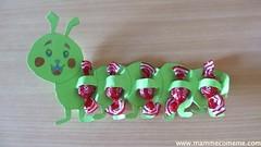 Bruco porta caramelle (Mammecomeme) Tags: bambini mamme feste gadgedgaged lavoretti caramelle bruco disegni