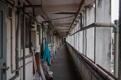 corridor of apartment (kasa51) Tags: corridor apartment yokohama japan building architecture
