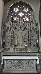 [46057] St Mary (RC), Warrington : North Chapel (Budby) Tags: warrington cheshire church victorian catholic romancatholic sculpture carving altar reredos