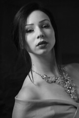 Black and white (mariettakui) Tags: blackandwhite blackandwhitephotography portrait womanportraiture portraitdefemme