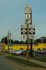 US12 and M-66 Signs - Sturgis (formulanone) Tags: michigan us12 12 usroute12 m66 66 sturgis