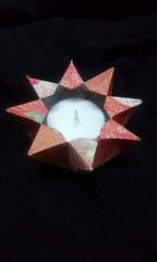 8 pointed tea light holder. Preparation for Diwali. (mimansaorigami) Tags: origami stars 8pointedstar diwali boxes symmetry origamiutility