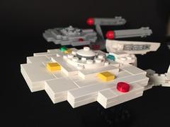 Starfleet Ships (jmenomeno) Tags: startrek lego franzjoseph enterprise scout tug ncc1701