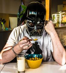 Darkside Breakfast (drigann) Tags: darkvador starwars fun shooting breakfast darkside sith