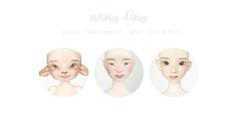 nano dino (nyo denyo) Tags: nyo nyodenyo faceup faceups makeup makeups nano dino nanodino textures