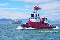 Fire Boat 134  LR (bradleybennett) Tags: cargo vessel ship shipping delta water river ocean tanker antioch port stockton fire boat fireboat san francisco bay alcatraz island